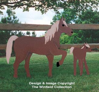 Horse & Colt Woodcraft Pattern