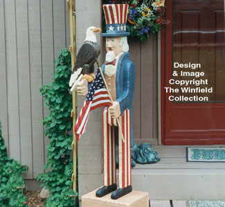 Uncle Sam with Eagle Woodcraft Pattern