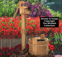 Old Pump & Washtub Wood Plan