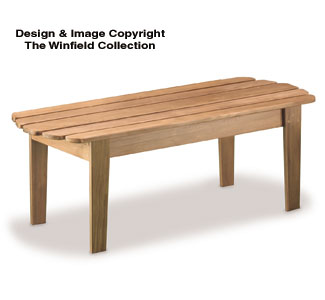 Adirondack Coffee Table Wood Project Plan