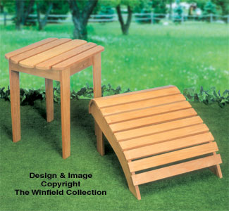 Adirondack Table & Ottoman Wood Plan