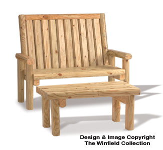 Landscape Timber Love Seat & Coffee Table Plans