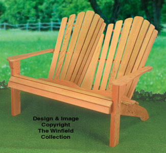 Adirondack Loveseat Wood Plans