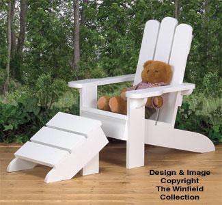 Kid's Adirondack Chair Wood Plans