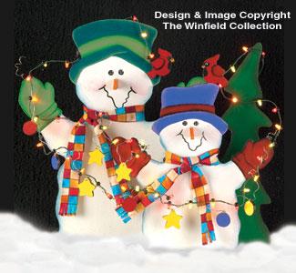 Snowmen lighted snowmen wood pattern for Wood lawn ornament patterns