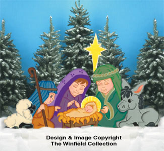 Young Nativity Woodcrafting Pattern