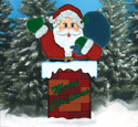 Chimney Santa Woodcrafting Pattern