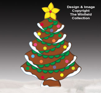 Giant Gingerbread Tree Wood Pattern