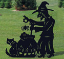 Brewing Witch Shadow Woodcraft Pattern