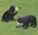 3D Life-Size Bear Cubs Woodcraft Pattern