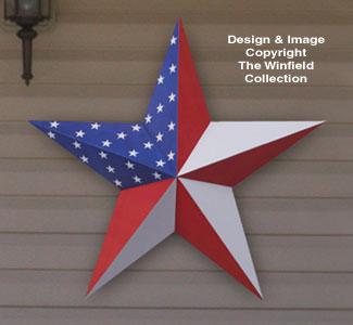 3D Large Wood Star Pattern