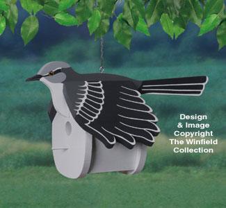 Mockingbird Birdhouse Wood Project Pattern
