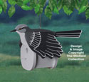 Mockingbird Birdhouse Wood Project Pattern