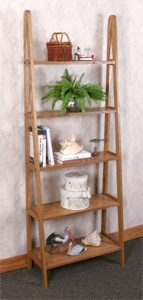 Ladder Shelf Woodworking Plan