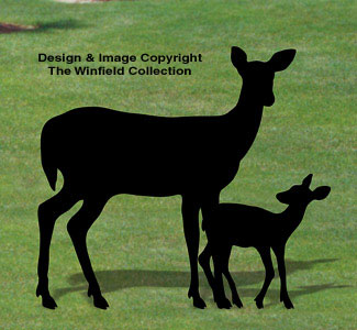 Doe & Fawn Shadow Woodcraft Pattern