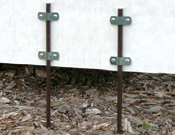 Yard Stakes & Clamps - Sold Separately - 3/8