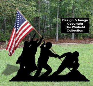 Fourth Of July Patriotic Iwo Jima Yard Shadow