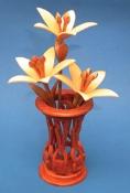 Miniature Lilies & Vase Scroll Saw Pattern