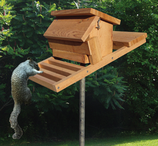 Squirrel-Proof Birdfeeder Wood Plan