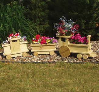 Planter Woodworking Plans Train Planter Wood Project Plan