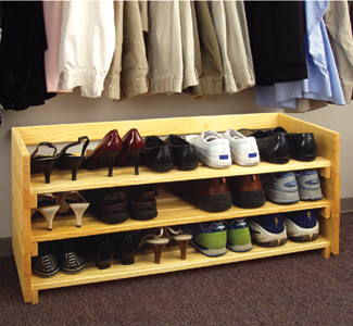 shoe storage wood plans