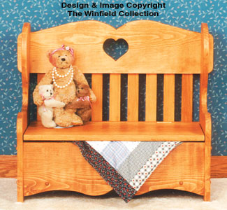 Childs Storage Bench Wood Plan