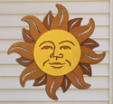 Celestial Sun Wall Decor Wood Pattern