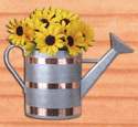 Half Watering Can Planter Wood Pattern