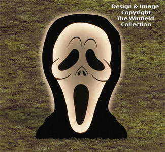 Giant Glowing Ghoul Woodcrafting Pattern