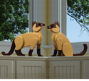 3D Life-Size Siamese Cat Wood Plan