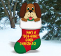 Dog-Gone Christmas Stocking Wood Pattern