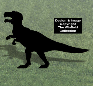T-Rex Shadow Woodcrafting Pattern