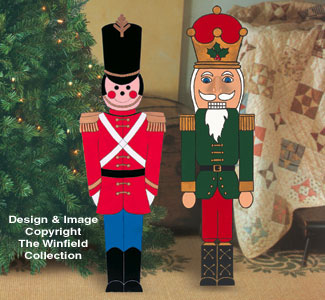 small toy soldier and nutcracker wood pattern