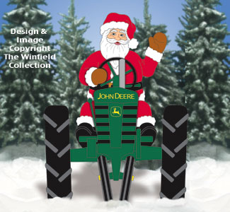 Deere Santa and Front View Tractor Pattern Set