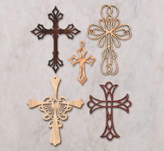 Ornamental Wall Crosses Pattern Set