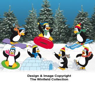 Playful Penguins Woodcrafting Pattern