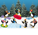 Playful Penguins Woodcrafting Pattern