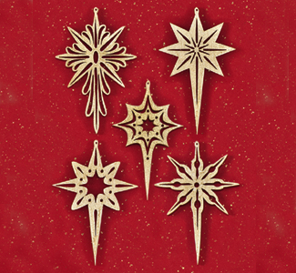 Indoor Christmas - Shining Star Scroll Saw Ornaments Pattern