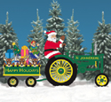 Deere Santa #2, Tractor and Wagon Pattern Set