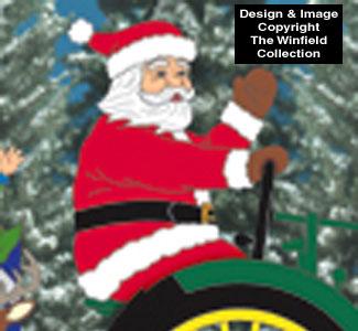 Deere Santa #2 Pattern Woodcraft Pattern