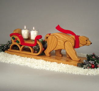 Polar Bear Drawn Sleigh Woodcrafting Plan