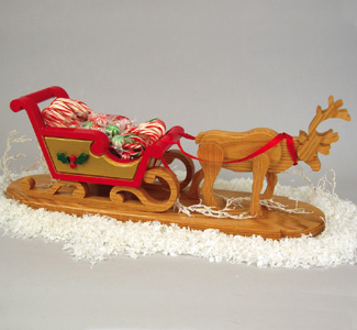 Reindeer Drawn Sleigh Woodcrafting Plan
