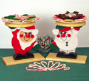 Santa and Snowman Platter Holders Wood Plan
