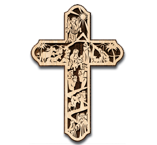 Scroll Saw Nativity Wall Cross Pattern