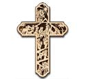Scroll Saw Nativity Wall Cross Pattern