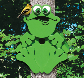 Treefrog Birdhouse Woodcrafting Project Plan