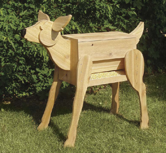 wooden deer feeder plans