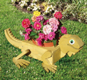 Iguana Flower Pot Planter Wood Plan