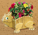 Horned Toad Flower Pot Planter Wood Plan