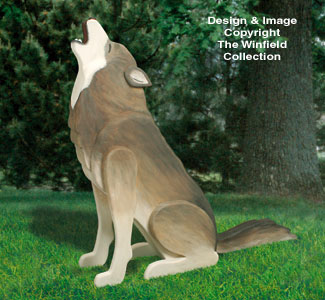 3d Animal Project Patterns 3d Life Size Howling Wolf